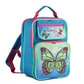 Рюкзак школьный LURIS «Дина» для девочек, на молнии, 2 отдела, 23х15х33 см