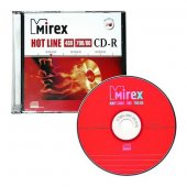 Диск CD-R Mirex HOTLINE 48х 700МБ (UL 120050A8S)