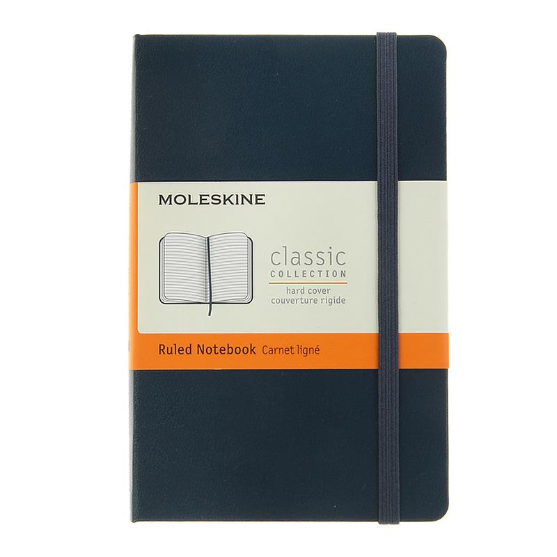 Блокнот MOLESKINE «Classic» pocket, А6, 96 листов, линейка, твердый переплет