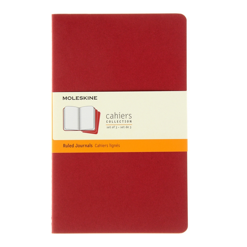 Блокнот MOLESKINE «Cahier Journal» large, А5, 40 листов, линейка, твердый переплет
