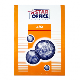 Бумага ALFA STAR OFFICE, белая, А4, 80 г/м², 500 л., класс «C+»