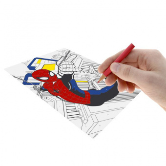 Роспись по номерам карандашами «Человек-Паук» (набор ...