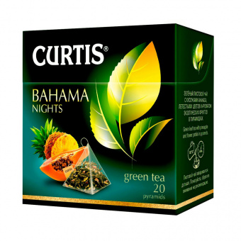 Чай зеленый CURTIS «Bahama Nights», 20 пирамидок