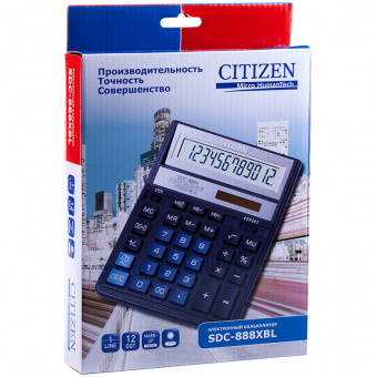 Калькулятор CITIZEN SDC-888 XBL